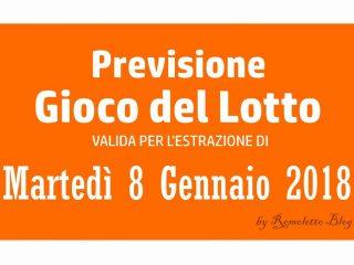 Previsione Lotto 8 Gennaio 2019