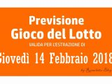 Previsione Lotto 14 Febbraio 2019