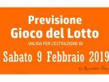 Previsione Lotto 9 Febbraio 2019