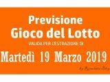 Previsione Lotto 19 Marzo 2019