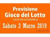 Previsione Lotto 2 Marzo 2019