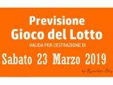 Previsione Lotto 23 Marzo 2019