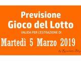 Previsione Lotto 5 Marzo 2019