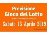 Previsione Lotto 13 Aprile 2019