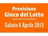Previsione Lotto 6 Aprile 2019