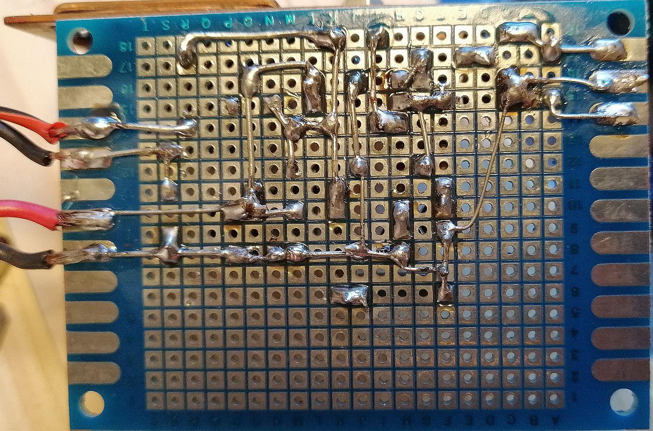 Montaggio del Finale Audio 12 W con TDA 2006 - Vista posteriore