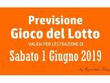 Previsione Lotto 1 Giugno 2019
