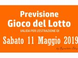 Previsione Lotto 11 Maggio 2019