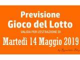 Previsione Lotto 14 Maggio 2019