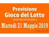 Previsione Lotto 21 Maggio 2019
