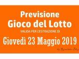 Previsione Lotto 23 Maggio 2019