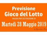 Previsione Lotto 28 Maggio 2019
