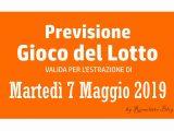 Previsione Lotto 7 Maggio 2019