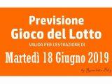 Previsione Lotto 18 Giugno 2019
