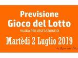 Previsione Lotto 2 Luglio 2019
