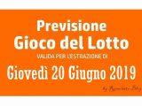 Previsione Lotto 20 Giugno 2019
