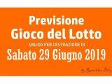 Previsione Lotto 29 Giugno 2019