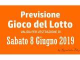 Previsione Lotto 8 Giugno 2019