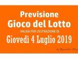 Previsione Lotto 4 Luglio 2019