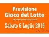 Previsione Lotto 6 Luglio 2019
