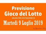 Previsione Lotto 9 Luglio 2019