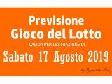 Previsione Lotto 17 Agosto 2019