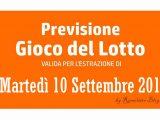 Previsione Lotto 10 Settembre 2019