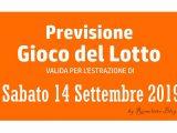 Previsione Lotto 14 Settembre 2019