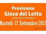 Previsione Lotto 17 Settembre 2019