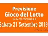 Previsione Lotto 21 Settembre 2019