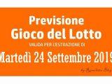 Previsione Lotto 24 Settembre 2019