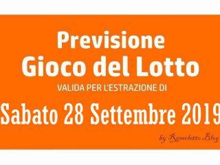 Previsione Lotto 28 Settembre 2019