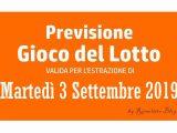 Previsione Lotto 3 Settembre 2019