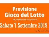 Previsione Lotto 7 Settembre 2019