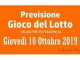 Previsione Lotto 10 Ottobre 2019
