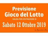 Previsione Lotto 12 Ottobre 2019