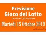 Previsione Lotto 15 Ottobre 2019