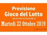 Previsione Lotto 22 Ottobre 2019