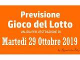 Previsione Lotto 29 Ottobre 2019