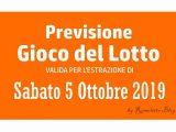 Previsione Lotto 5 Ottobre 2019