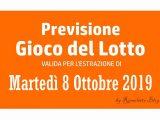 Previsione Lotto 8 Ottobre 2019