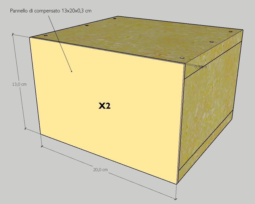 Box con pannello frontale