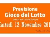 Previsione Lotto 12 Novembre 2019