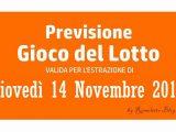 Previsione Lotto 14 Novembre 2019