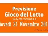 Previsione Lotto 21 Novembre 2019