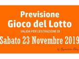 Previsione Lotto 23 Novembre 2019