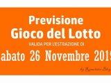 Previsione Lotto 26 Novembre 2019