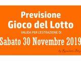 Previsione Lotto 30 Novembre 2019