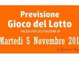 Previsione Lotto 5 Novembre 2019