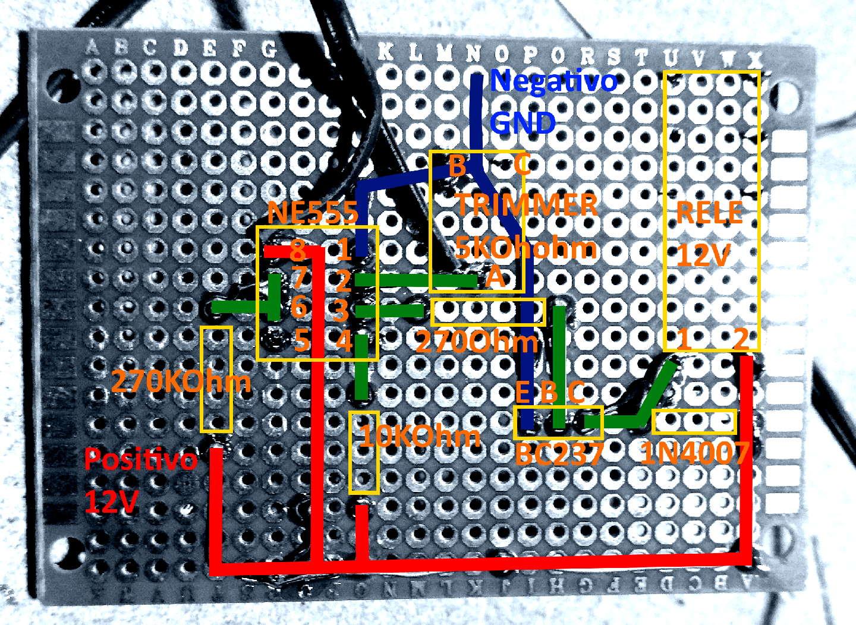 Retro basetta millefori a colori - Interruttore crepuscolare